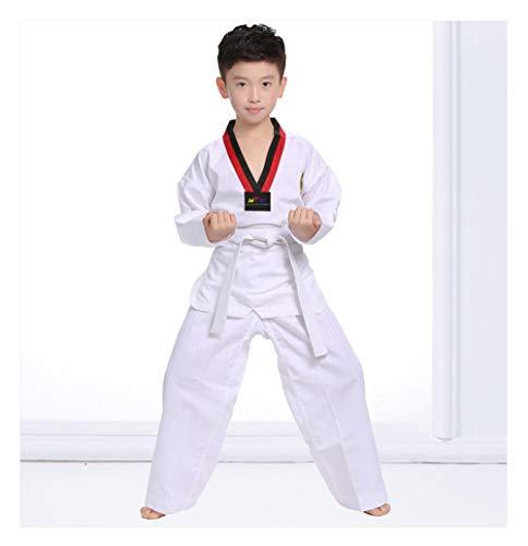 Swallowuk Taekwondo Anzug Uniform Outfit Unisex Judo Anzug Karate Training passt Kimono Jiu Jitsu Gi Judo Uniform mit Gürtel (M) (Uniform Judo)