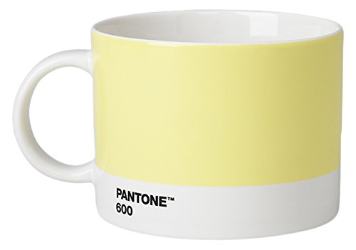 Pantone Tasse à thé en Porcelaine 475 ML, Porcelaine, Light Yellow 600, 10.4 x 10.4 x 8 cm