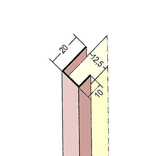 PROTEKTOR 3741, Einfassprofil, Plattenstärke 12,5 mm für Gipskarton, 2,50 m, Bund = 50 Stäbe, PVC, weiß