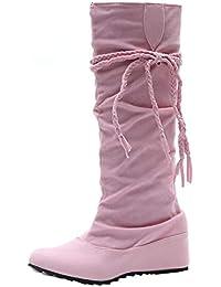 Scothen Damen Winterstiefel Kunstfell Warm Gefüttert Boots Übergrößen Warm  Gefüttert Flandell Schnür Stiefeletten Herbst Winter Outdoor 8ab56ab4bd