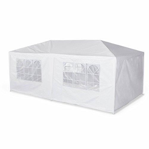 Alice's Garden-Zelt, 3 x 6 m-Aginum-Pavillon, weiß, als pergola/Pavillon, chapiteau.