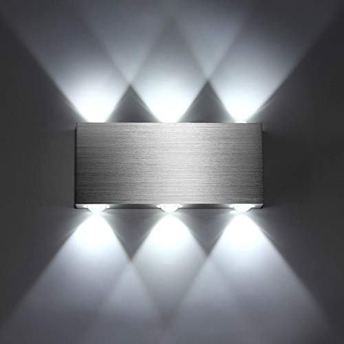 Lightess Apliques de Pared LED Lámpara de Pared Interior Luz Moderna de Aluminio para Dormitorio, Pasillo...