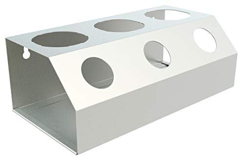 RICOO Abtropfgestell für SodaStream aus Edelstahl für 3 Flaschen STS-003   Zubehör für Wassersprudler-Flaschen   Design Geschirrabtropfgestell inkl. Deckelhalter für Glasflasche oder Plastikflasche