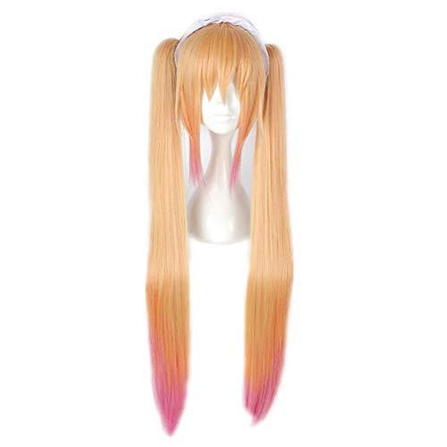 e Rosa Lange Haarspange Auf Ponyfrisur Maid Animation Cartoon Hitzebeständige Kunstfaser Cosplay Perücken ()