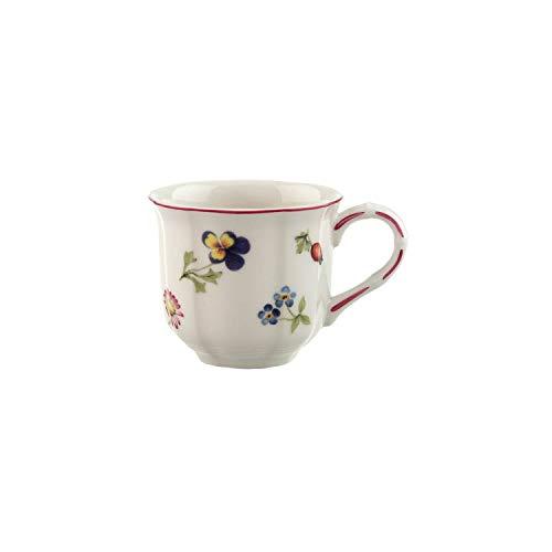 Villeroy & Boch - Petit Fleur Kaffeetasse, zarte Tasse aus Premium Porzellan mit filigranen Reliefs und blumig-fruchtigen Motiven, 200 ml