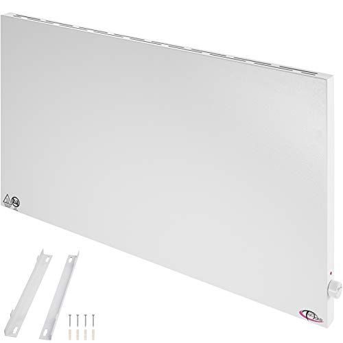 TecTake 800596 Hybrid Infrarotheizung mit Thermostat, Überhitzungs- und Überspannungsschutz, inkl. Wandhalterung - diverse Größen - (1000Watt | Nr. 402979)
