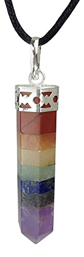 Frabjous Rainbow Multicolor Chakra Pendulum Pendant made from Real Gemstones Gift For Diwali