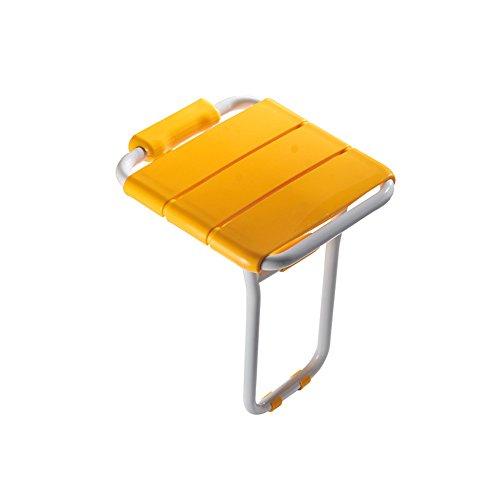 LYXPUZI Klappstuhl Wandbehang Stuhl Badezimmer Bank Dusche Zimmer Wand Stuhl Alter Mann (Farbe : Gelb)
