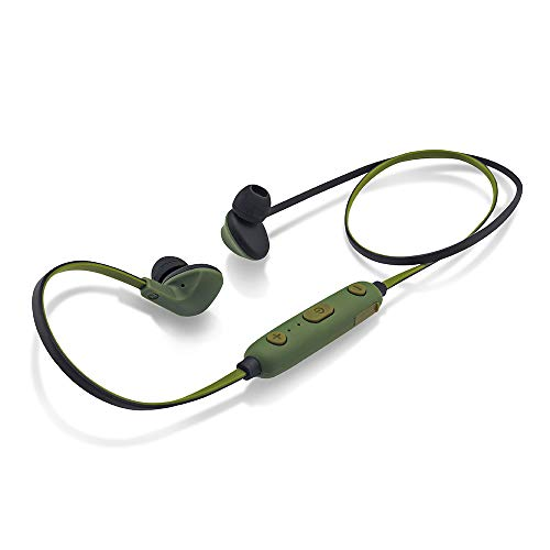 iBall EarWear Sporty Wireless Bluetooth Headset with Mic for All Smartphones (Military Green)
