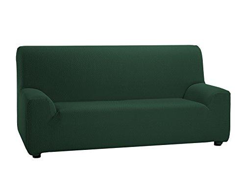 Martina Home Tunez Copridivano elastico, Tela (50% poliestere, 45% cotone, 5% elastan), Bottiglia Verde, 4 posti da 240 a 270 cm di larghezza