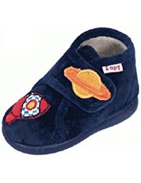 Zapatillas DE CASA Niño Velcro Marino Cohete ZAPY