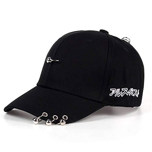 SYQY Mens-Hut-Normallack-Eisen-Ring-Dekor-Baumwollhut-Frauen-einfache Baseballmützen Unisex,C1