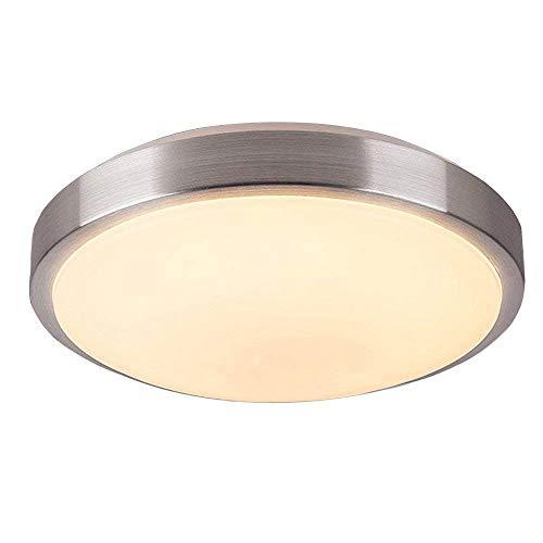 Huahan Haituo LED Flush Mount Deckenleuchte, 9 Zoll, warme Light(120W Equivalent) dimmbare 15W 1650lm, 3000 K Tageslicht, gebürstetem Nickel Runde Leuchte für Küche, Flur, Bad, Treppenhaus -