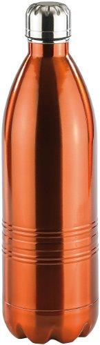 Rosenstein & Söhne Kühlflasche: Doppelwandige Vakuum-Isolierflasche aus Edelstahl, 1,0 Liter (Isolierflasche Kohlensäure)