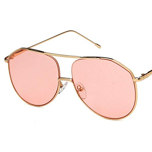 Wenkang Fashion Metal Frame Sun Glasses Design Pilot Sunglasses Women Glasses Unisex Optical Eyewear Masculine Oversized Sunglass,5