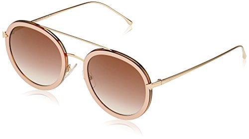 Fendi Damen FF 0156/S QH V54 Sonnenbrille, Pink Gold/Brown Ms Gld, 51