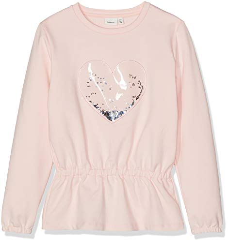 NAME IT Mädchen Sweatshirt NMFBAFY Sweat UNB, Rosa (Strawberry Cream), (Herstellergröße: 98)