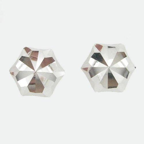 icedtime-earrings be36Orecchini a perno italiana, Oro bianco 14K cerchio