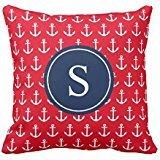 Navy & Red Anchors Away | Throw pillow case 16*16