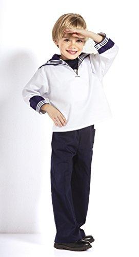 Kleinkind Kostüm Fischer Für - Weißes Kinder Matrosenhemd klassischer Stil von Modas alle Größen (140)