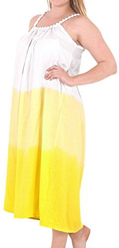 La Leela delle donne vestito Cover Designer prendisole beachwear costume da bagno bikini up Giallo