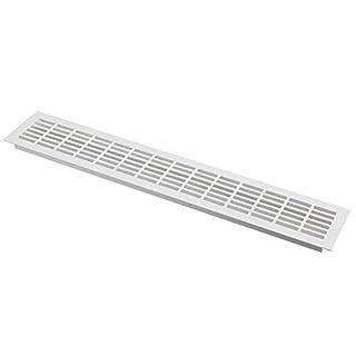 Aluminium Lüftungsgitter Weiß 100x400mm Stegblech Lüftung Alu-Gitter Gitter Möbelgitter Möbellüftung RA1040