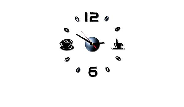 Casecover Horloge Murale Num/érique Sticker Design Moderne Horloge Murale Horloge Cuisine Salon Maison D/écoration DIY Salon Needl Home Decor