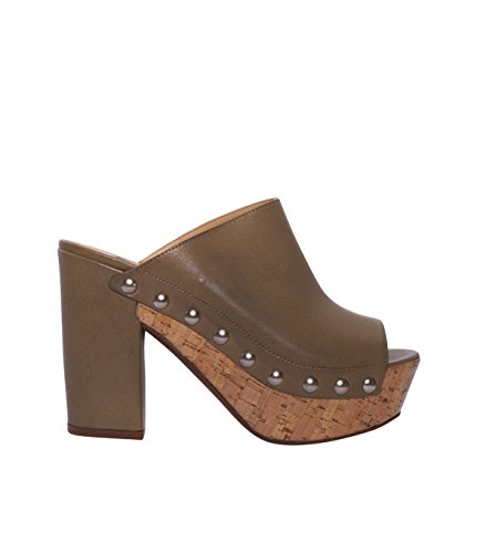 JANET & JANET Damen Schuhe Sandalen Sandaletten - Leder - braun mil nat 40