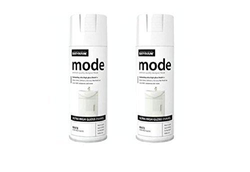 2 x Rost -Oleum Modus kann Lackspray weiß glanz 400 ml -