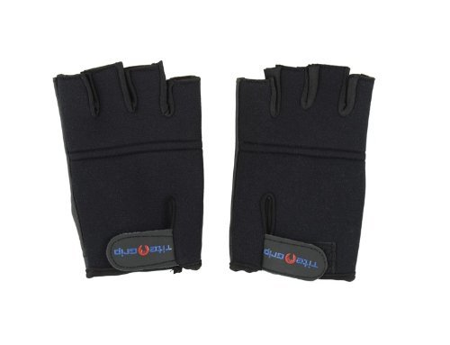 Tite Grip Neopren-Handschuhe, für Pole Dance & Weight Training (Medium/Large, Schwarz)