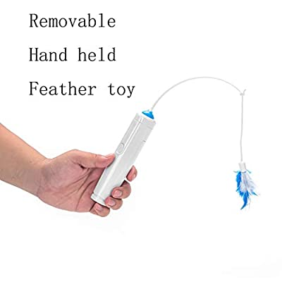 Vealind Cat Indoor Interactive Teaser Toy with 360° Electric Rotating Feather Toys & Ringing Bell Ball from Vealind