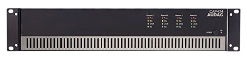 AUDAC CAP424 4.0 Home Wired Black audio amplifier - audio amplifiers (4.0 channels, 960 W, D, 0.3%, 100 dB, 80 dB)