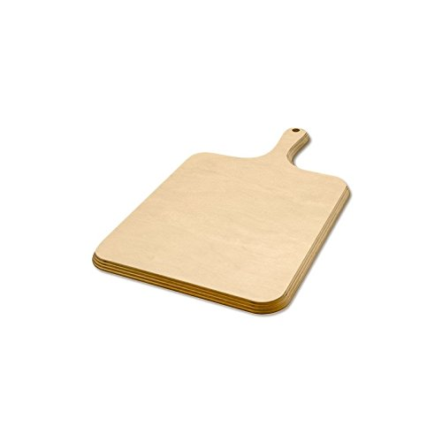 Tagliere classico in legno di betulla con manico 24x38 cm