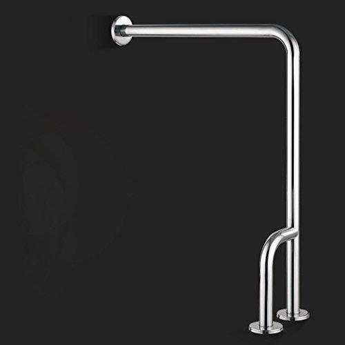 KHSKX Rotaie a pavimento, rotaie di sicurezza bagno, Servizi igienici WC WC maniglia vecchia a forma di l recinto, in acciaio inox 304