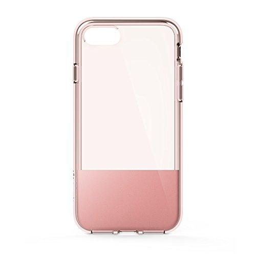 Belkin SheerForce Schutzhülle (TPU, Sturzsicherheit, Anschlüsse frei zugänglich, geeignet für iPhone 8/7)roségold