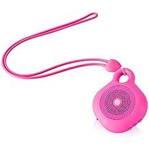AudioSonic Beat - Altavoces portátiles (Inalámbrico y alámbrico, Mono Portable Speaker, Rosa,