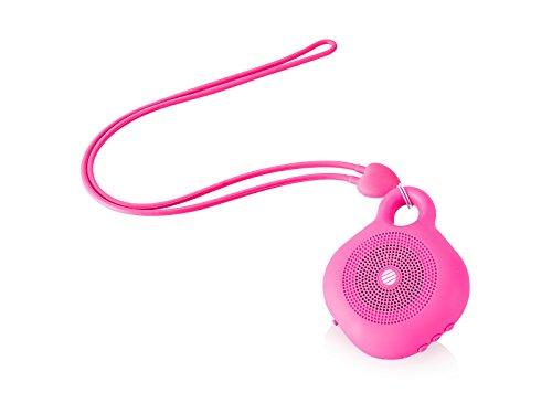 AudioSonic Beat - Altavoces portátiles (Inalámbrico y alámbrico, Mono Portable Speaker, Rosa, Teléfono móvil/Smartphone, Batería, Integrado)