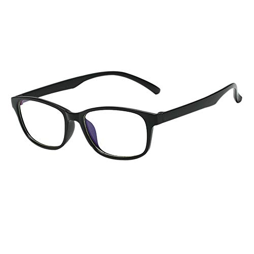 Deylaying Blue Light Filter Brille - Anti Strahlung Computer Game TV Glasses Rectangle Rahmen Simple Vintage Gläser für Männer Frau (Matt Schwarz)