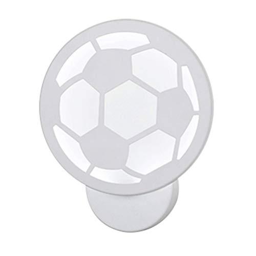 Uonlytech LED 12 Watt Kleine Fußball Form Wandleuchte Acryl Nachttischlampe für Korridor Schlafzimmer Wohnzimmer (Weiß)