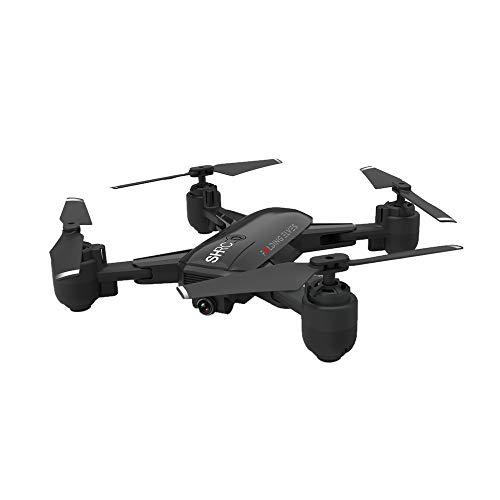 WIFI Drohne, 720 FPV 18min Flugzeit GPS Flow Me Faltbarer Selfie Drohne RC Quadcopter, geeignet für Jungen Weihnachtsgeschenke, Geschenke für Erwachsene (Schwarz)