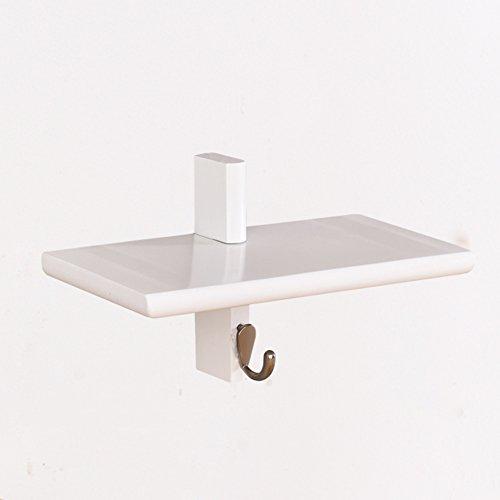 Dongyd Support de Cintre de Mur de Salle de Bains, Support Multifonctionnel en Bois Plein Creative Clap Living Room Shelf Hanger Holder Key Hook (Couleur : Blanc, Taille : B)