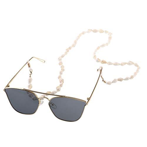 Pegcdu Frauen Mädchen Kleine Conch Gläser Kette Brille Sonnenbrille Lesebrille Linie Halter Halsband