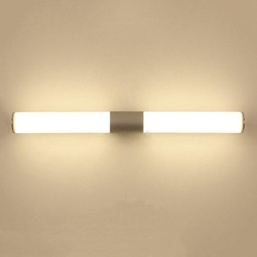 Bad Spiegelleuchten Modernes minimalistisches Spiegel-Front Ligh LED Badezimmer-Badezimmer-Kabinett, das kreative Persönlichkeits-Wäscher-Make-uplampe kleidet (Farbe : Weißes Licht-22W/55cm) - Wäscher-batterie