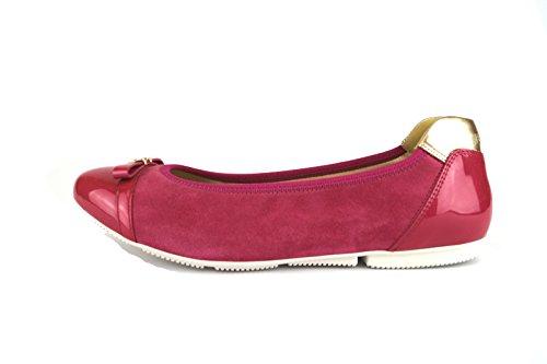 HOGAN 36,5 EU ballerine donna rosa fucsia camoscio vernice AH707