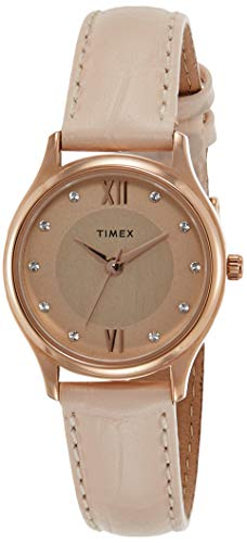 Timex Analog Rose Gold Dial Women's Watch-TW00ZR270E