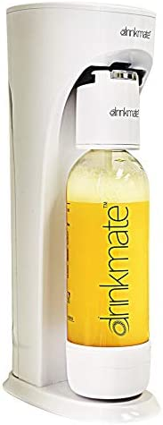 Drinkmate Sparkling Water and Soda Maker, Carbonates Any Drink, Without CO2 Cylinder, Classic White