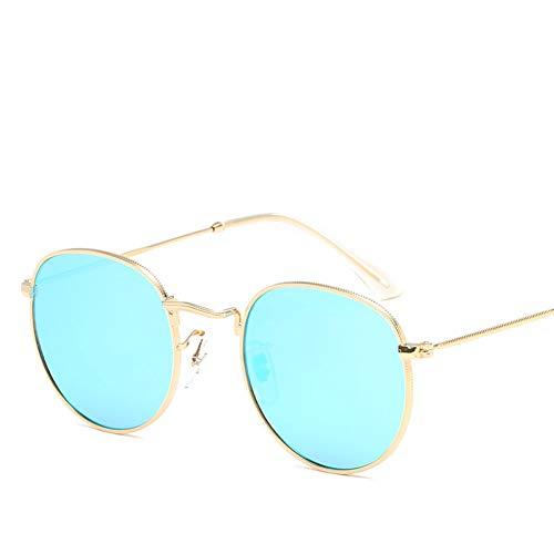 ZHENCHENYZ Retro kleine runde Sonnenbrille-Mann-Weinlese-Marken-Farbton-männliche Schwarze Metallsonnenbrille für Mann-Mode