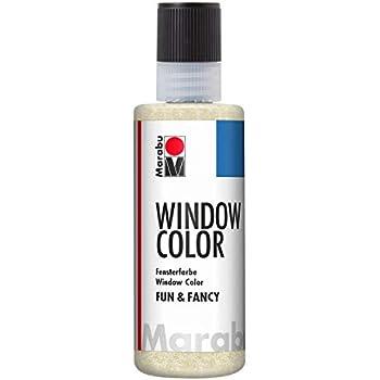 KREUL Window Color Glas Design 7er Set Glitzer Welt Glasmalfarbe Fensterfarbe