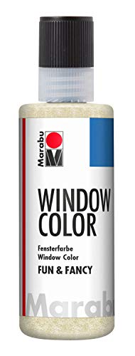 Marabu 040604584 Window Color Fun & Fancy, 80 ml, Glitter-Gold