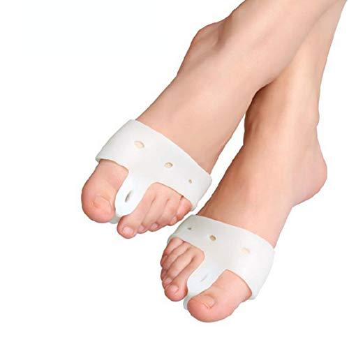 Preisvergleich Produktbild LouiseEvel215 Bunion Corrector Fußpflege Toe Aligner Orthese Seperator Separation Zehendesign Kammzehekorrektur Überlappender Zehentrenner
